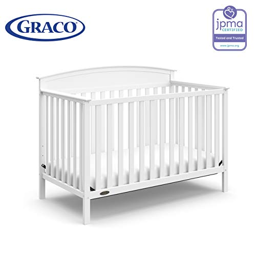 41Sw3Y4ScRL - Graco Benton 4-in-1 Convertible Crib, White, Solid Pine And Wood Product Construction, Converts To Toddler Bed Or Day Bed (Mattress Not Included)
