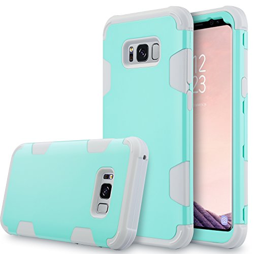 Galaxy S8+ Plus Case, S8 Plus Case,UrbanDrama 3 in 1 Drop-Protection Hybrid Impact Heavy Duty Rugged Shockproof Bumper Anti Slip Full Body Protective Case for Samsung Galaxy S8 Plus 6.2, Mint Green