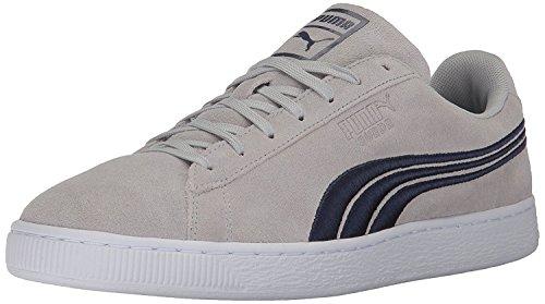 PUMA Men's Suede Classic Badge Sneaker,Gray Violet Peacoat