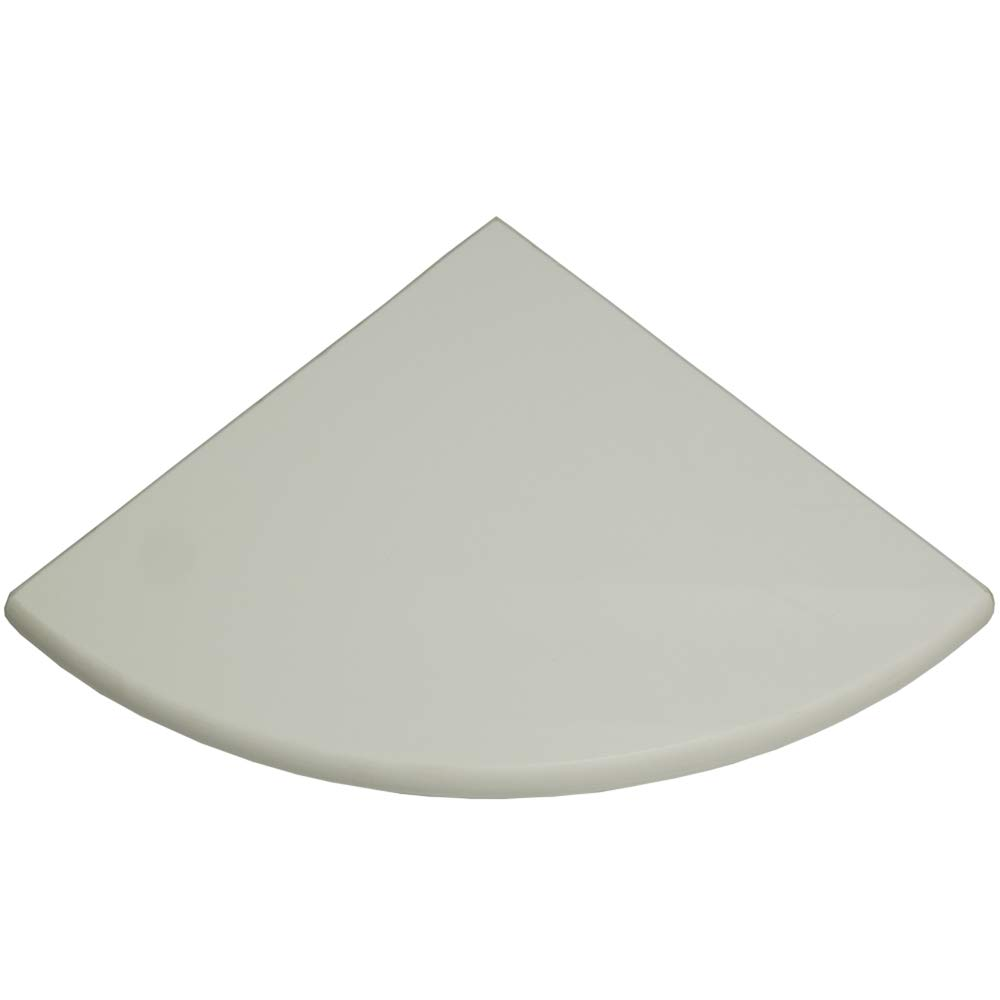 Vogue Tile Premium Quality Pure White Marble Corner Shelf Polished 9'' (2) by Vogue Tile