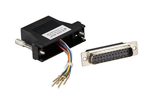 Modular Adapter Kit DB25M To RJ45F w/Thumbscrews Black