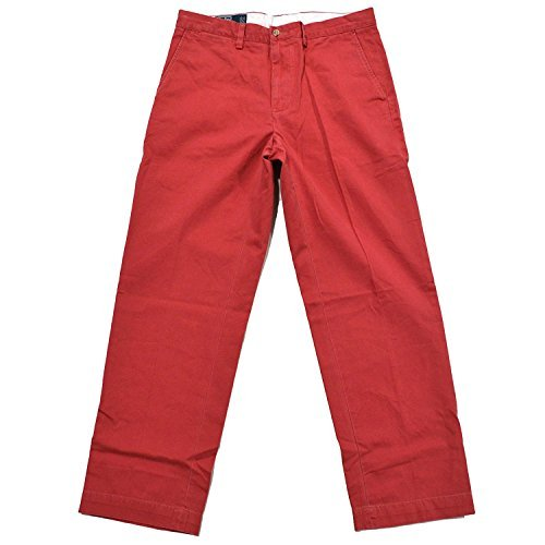 Polo Ralph Lauren Men's Classic Fit Flat Front Chino - 32W x 32L - Nantucket Red