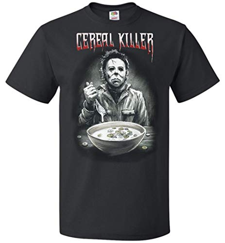 Michael Myers Cereal Killer Horror Funny Mens Womens Halloween Costume T Shirt -