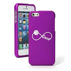 """Apple iPhone 6 Plus (5.5"""") Snap On 2 Piece Rubber Hard Case Cover Infinity Infinite Love for Basketball (Purple)"""