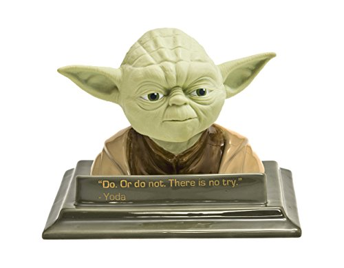 (JOY TOY 21351 Yoda 3D Bust Green Ceramic Money Bank in Gift Wrap)