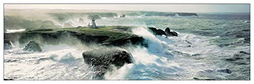 Artopweb PLISSON-Avis Coup De Vent Sur Les Poulains (Decorative Panel 56.5x17.5 inches)