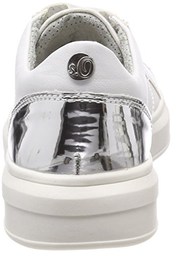S oliver Comb Basses Sneakers 23617 Femme white Blanc rCdqrw