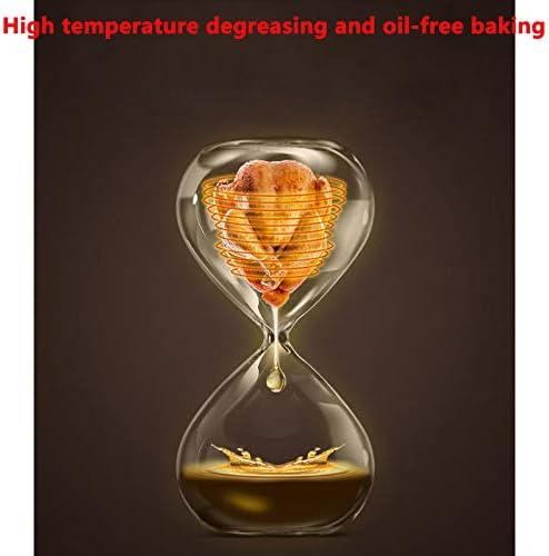 QIAO Friteuse Électrique sans Huile,Air Fryer with 30 Minute Timer,1400 W,4.6Litre,Rouge