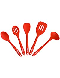 Investment 5 Piece Kitchen Utensil Set By Parlee Products – 100% Food Grade Silicone – BPA Free & FDA Approved – Lightweight... offer