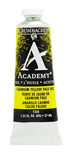 Grumbacher Academy Oil Paint, 37 ml/1.25 oz, Cadmium Yellow Pale Hue (Oil Colors Cadmium Yellow Pale)