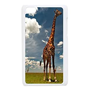 Animal Giraffe Pattern Hard Shell Cell Phone Case for For ipod Touch Case 4 FKGZ427402