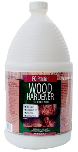 PC Products 128442 PC-Petrifier Water-Based Wood Hardener, 1 gal Bottle, Milky White