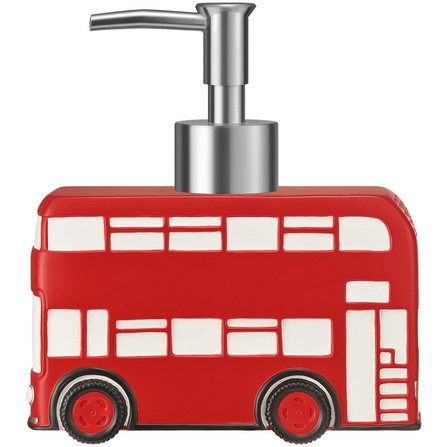 i love london red bus london bathroom accessories set soap dispenser soap dish tumbler
