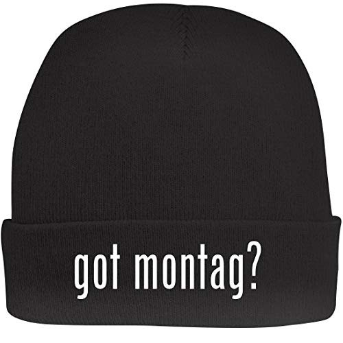 Shirt Me Up got Montag? - A Nice Beanie Cap, Black, OSFA