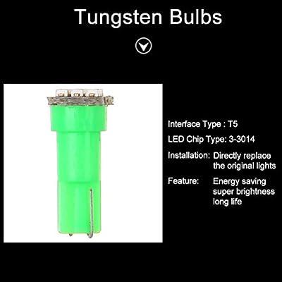 cciyu 10x 74 Twist-in Instrument Panel Dash Light Green LED Bulbs PC74 Sockets T5 Kit 307 308 406 407 2721 85 86 For 2005-2011 Nissan Altima Armada Frontier Maxima Murano Sentra Titan etc: Automotive