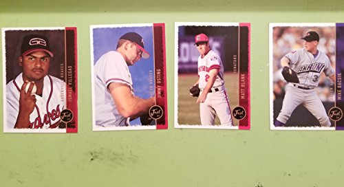 1999 Just Memorabilia Inc®_004 CARD LOT_MIKE BASIK #155 MATT BLANK #158 JIMMY OSTING #214 ISMAEL VILLEGAS #245 Just 99™ Collection Baseball Cards ()