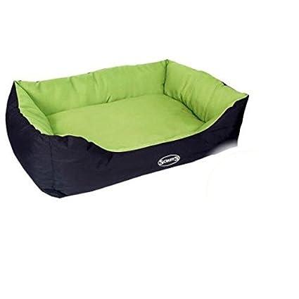 resistente al agua cama de perro, verde lima