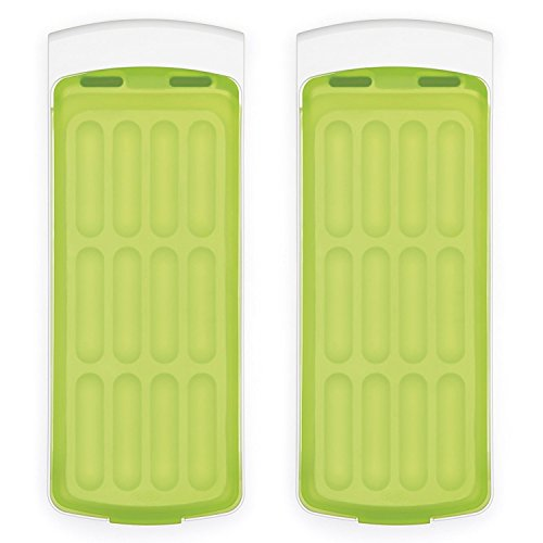 - OXO Good Grips No-Spill Silicone Ice Stick Tray for Water Bottles (Set of 2)