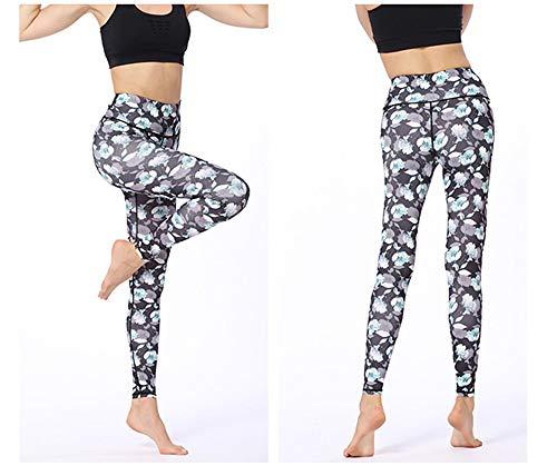 Stampato Da Elasticizzato Fit Yoga Grigio Pantalone Slim S Donna Qinb wYXqx