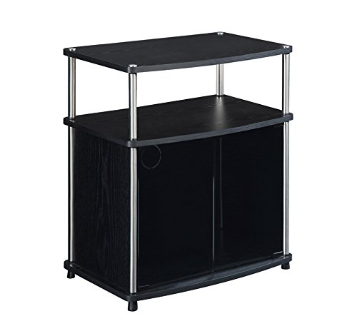Convenience Concepts Designs2Go TV Stand with Cabinet for Flat Panel TV's Up to 25-Inch or 50-Pounds, Black by Convenience Concepts (Image #3)