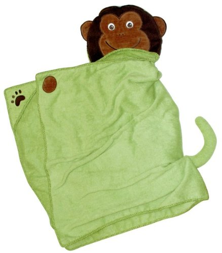 Amazon.com : Monkey - One of a kind extra large toddler/child Animal Character Towel with paws and a tail, Frenchie Mini Couture : Hooded Baby Bath Towels : ...