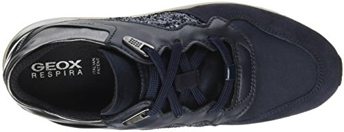 Geox Womens D Shahira B Suede Trainers Dark Navy/Navy fVqzw1sph