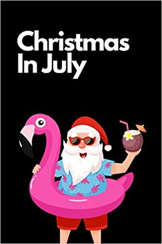 Christmas In July Santa Clipart.Christmas In July Flamingo Santa Journal Gift This Is A