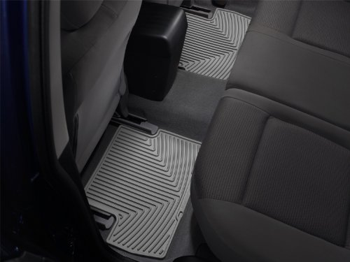 WeatherTech All-Weather Trim to Fit Rear Rubber Mats (Grey) (2005 Navigator Weathertech Lincoln)
