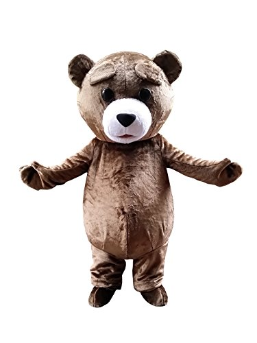 Sinoocean Teddy Bear Adult Halloween Easter Mascot Costume Fancy Dress Outfit -