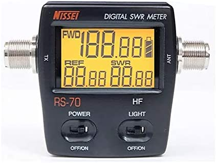 Youmei RS-70 Digital SWR Watt Meter HF 1.6-60MHz 200W for Two-Way Radio