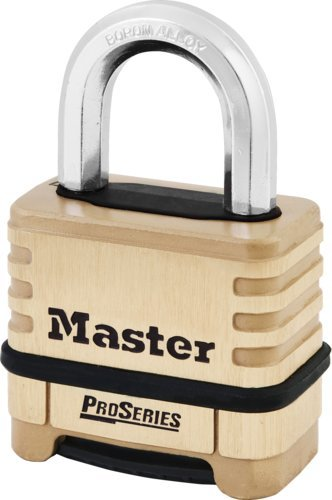 Master Lock 1175D Resettable Brass Combination Padlock