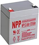 NPP 12V 5 Amp NP12 5Ah Rechargeable Lead Acid Battery F2 Terminals