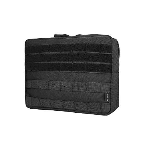 Procase Pochette Tactique Molle Militaire Homme EDC, Sacoche Portable Multifonctionnel Léger et Robuste-Noir-Grand 1