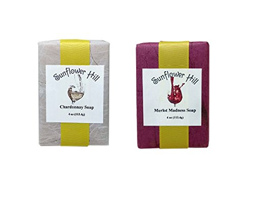 Chardonnay and Merlot Wine Soap Set - Made in Maine - Gift Packaged