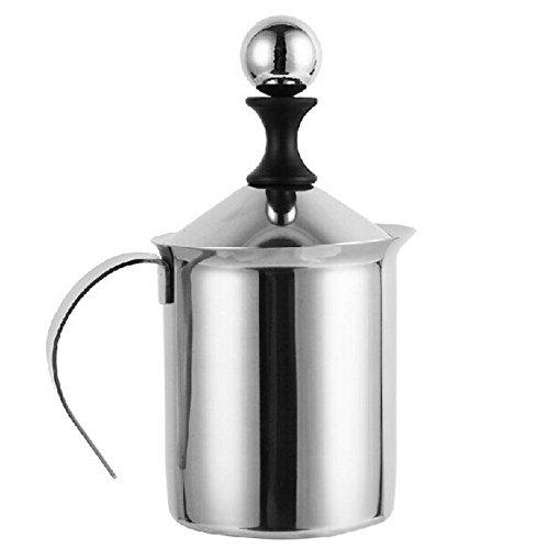 VT BigHome coffee maker machine Stainless Steel Double Mesh 400ML Fancy manual coffee mug cup Milk Foamer Milk Creamer Kitchen Tool