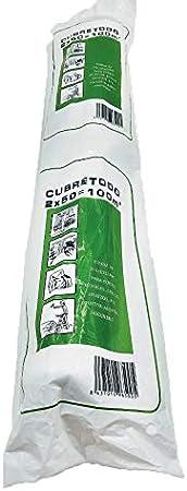 Rollo de plastico de polietileno, CUBRETODO 2 X 50 M (100 m2) para pintar y proteger muebles etc etc