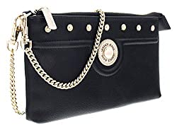 Versace Ee3vsbpm4 E899 Black Pouch Wallet For Womens