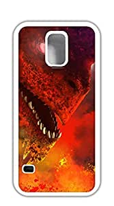 Back Cover Case Personalized Customized Diy Gifts In A cell phone case for samsung galaxy s5 - Guardian Red Dragon