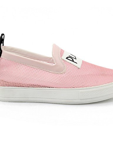 ZQ Zapatos de mujer - Plataforma - Plataforma / Creepers / Punta Redonda - Mocasines - Exterior / Vestido / Casual - Tul -Negro / Rosa / , black-us6 / eu36 / uk4 / cn36 , black-us6 / eu36 / uk4 / cn36 black-us2.5 / eu32 / uk1 / cn31