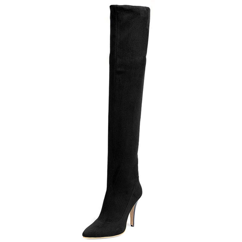 ShoeN Tale Women Over The Knee High Stretchy Leather Thigh high Snow Boots