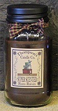 Rum Raisin Mason Jar Candles Large Jar ~ 25 fl oz (25 Oz Candle)