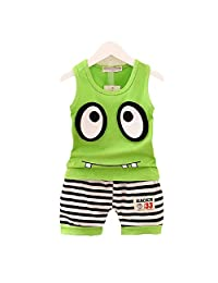 Kmety Baby boy girl summer fashion big eye T-shirt + shorts