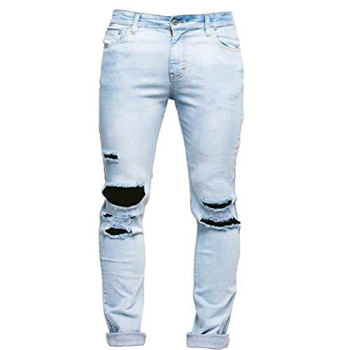 Ragazzi Distrutti Elasticizzato Skinny Strappato Deim Biker Sportivi Fori Pantaloni Slim Blau Chern Jeans Taped Da Libero Fit Uomo R Denim Tempo Classiche vxXEw4qRBH