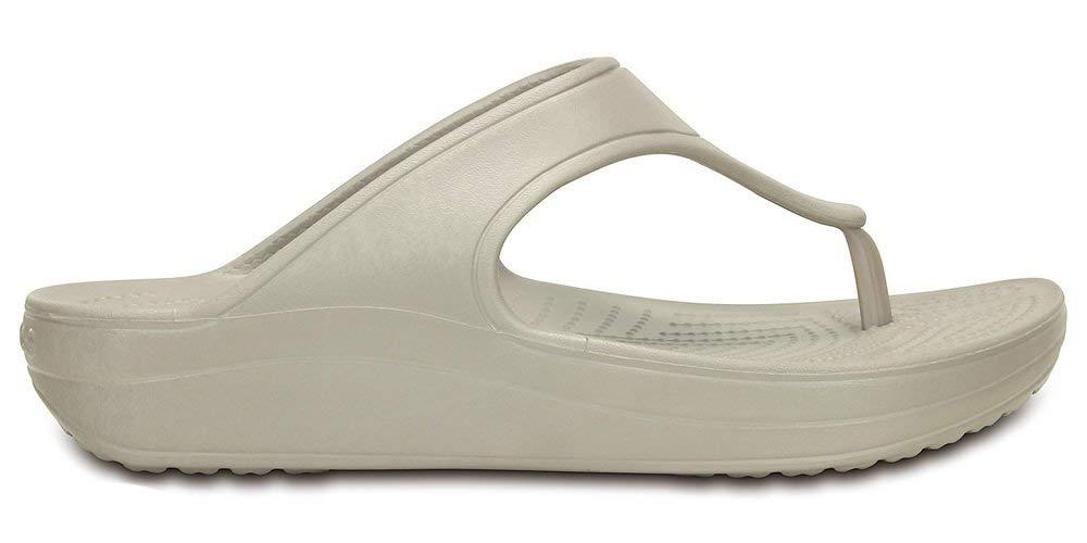 Crocs WN-Platform Flip, Bout Sandales Bout Ouvert Femme, Gris (Platinum) Platino Crocs Platino dce6e80 - digitalweb.space