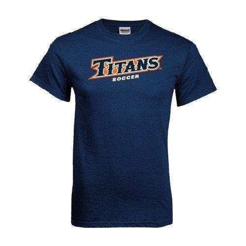State Fullerton Cal Soccer Ball - Cal State Fullerton Navy T Shirt 'Soccer' - X-Large