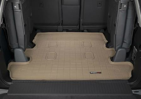 2008-2013 Toyota Land Cruiser WeatherTech Cargo Liner (Tan) [Equipped with 3rd Row Seating]