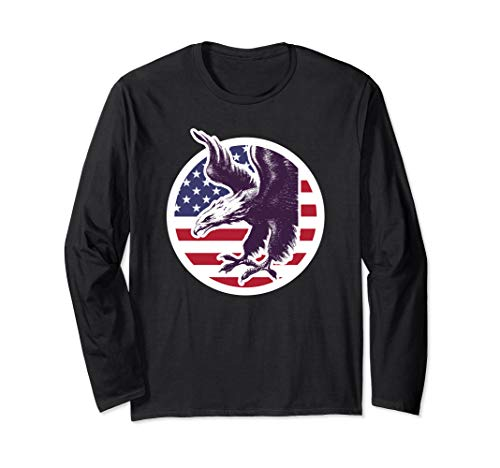 American Patriot Freedom Eagle USA Flag Stars Stripes TShirt -