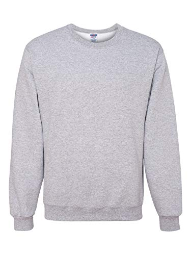 Jerzees Cotton Pullover - Jerzees Men's 562MR Crew Neck Sweatshirt, Ash, Medium