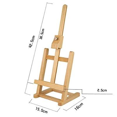 MXueei Easels ZfgG Easel Drawing Board Wooden Bracket Folding Sketch Painting Shelf Kids Oil Painting Rack