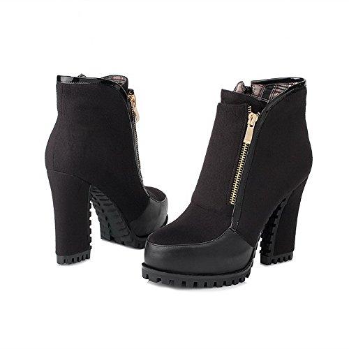 Womens Pu Assorted E Neri Stivali Heels Ankle Inverno Balamasa High Colors Autunno TxdCwqH